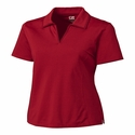 Cutter & Buck Women's Polo Shirt: Cotton Blend DryTec Medina Tonal Stripe (LCK02358)