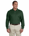 Devon & Jones Men's Polo Shirt: 100% Pima Cotton Pique Long-Sleeve (D110)