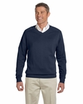Devon & Jones Men's Sweater: 100% Cotton V-Neck (D475)