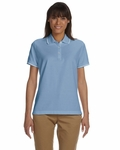 Devon & Jones Women's Polo Shirt: 100% Pima Cotton Pique Short-Sleeve Tipped (D113W)