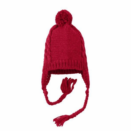 District Cap: Cabled  With Pom(DT617)