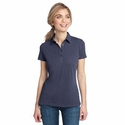 District Made Women's Polo Shirt: 100% Ring Spun Cotton Slub(DM450)