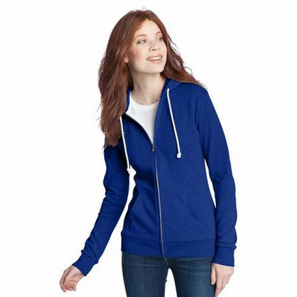District Threads Juniors Sweatshirt: Full-Zip Core Fleece Hoodie(DT290)