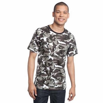 District Threads Men's T-Shirt: 100% Cotton Camouflage Perfect Weight District (DT104C)