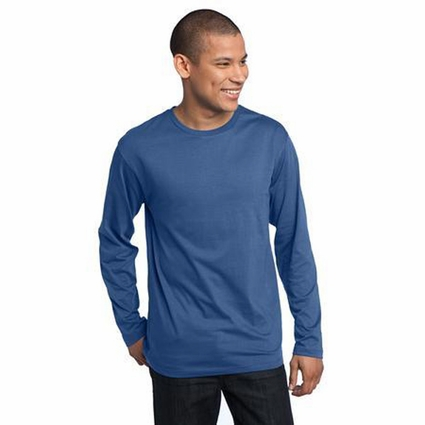 District Threads Men's T-Shirt: 100% Cotton Long Sleeve Perfect Weight District (DT105)