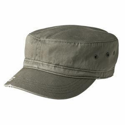 District Threads Military Cap: 100% Cotton Distressed (DT605)