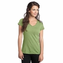 District Threads Women's T-Shirt: 100% Cotton Junior Slub V-Neck (DT240)