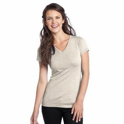 District Threads Women's T-Shirt: Junior Tri-Blend V-Neck (DT242V)