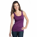 District Threads Women's Tank Top: 100% Cotton Junior Perfect Fit 1x1 (DT235)