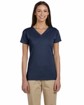 Ladies' 4.4 oz. 100% Organic Cotton Short-Sleeve V-Neck T-Shirt: (EC3052)
