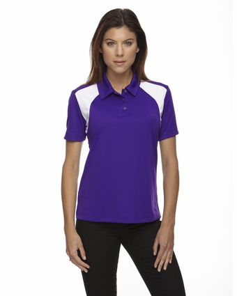 Eperformance™ Ladies' Colorblock Textured Polo: (75066)