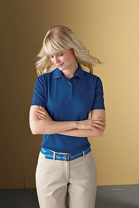 Eperformance™ Ladies' Jacquard Piqué Polo: (75055)