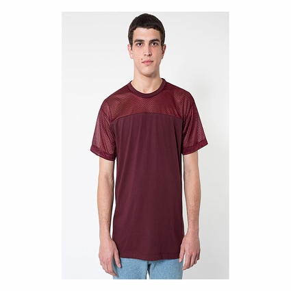 Fine Jersey Athletic Tee With Mesh: (RSA2419)