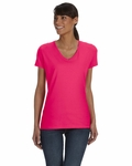 Ladies' 5 oz., 100% Heavy Cotton HD® V-Neck T-Shirt: (L39VR)