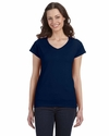 SoftStyle® Ladies' 4.5 oz. Junior Fit V-Neck T-Shirt: (G64VL)