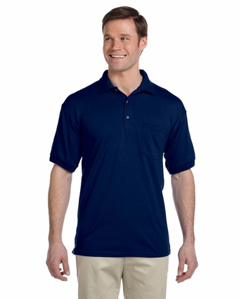 DryBlend® 6 oz., 50/50 Jersey Polo with Pocket: (G890)