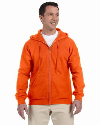 DryBlend® 9.3 oz., 50/50 Full-Zip Hood: (G126)