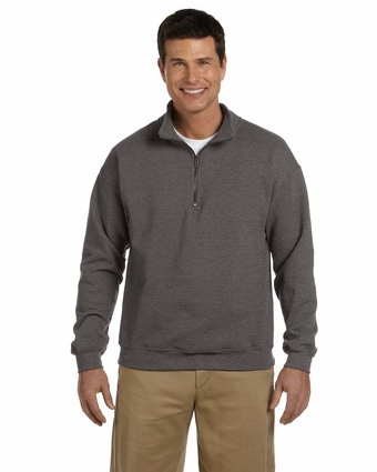 Heavy Blend™ 8 oz. Vintage Classic Quarter-Zip Cadet Collar Sweatshirt: (G188)