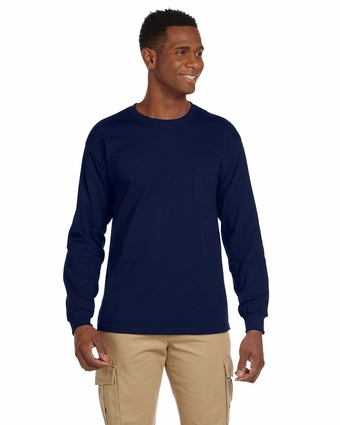 Ultra Cotton® 6 oz. Long-Sleeve Pocket T-Shirt: (G241)