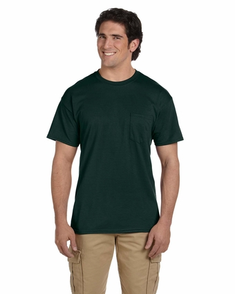 DryBlend® 5.6 oz., 50/50 Pocket T-Shirt: (G830)