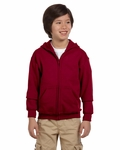 Heavy Blend™ Youth 8 oz., 50/50 Full-Zip Hood: (G186B)
