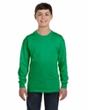 Heavy Cotton™ Youth 5.3 oz. Long-Sleeve T-Shirt: (G540B)