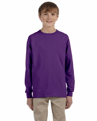 Ultra Cotton® Youth 6 oz. Long-Sleeve T-Shirt: (G240B)