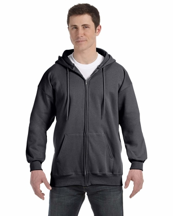 9.7 oz. Ultimate Cotton® 90/10 Full-Zip Hood: (F280)