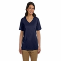 Ladies' 5.2 oz. ComfortSoft® V-Neck Cotton T-Shirt: (5780)