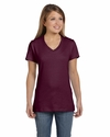 Ladies' 4.5 oz., 100% Ringspun Cotton nano-T® V-Neck T-Shirt: (S04V)