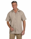 Men's Barbados Textured Camp Shirt: (M560)