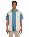 Men's Two-Tone Bahama Cord Camp Shirt: (M575)