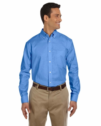 Men's Long-Sleeve Oxford with Stain-Release: (M600)