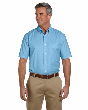 Men's Short-Sleeve Oxford with Stain-Release: (M600S)