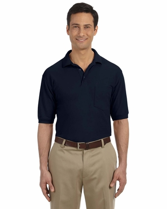 5.6 oz. Easy Blend Polo   with Pocket: (M265P)