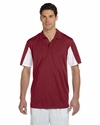Men's Side Blocked Micro-Piqué Polo: (M355)