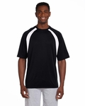 4.2 oz. Athletic Sport Colorblock T-Shirt: (M322)