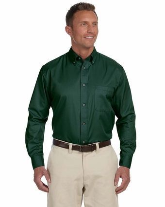 Men's Easy Blend™ Long-Sleeve Twill Shirt with Stain-Release: (M500)