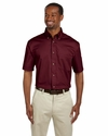 Men's Easy Blend™ Short-Sleeve Twill Shirt with Stain-Release: (M500S)
