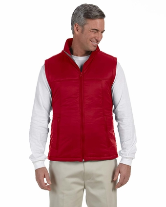 Men's Essential Polyfill Vest: (M795)