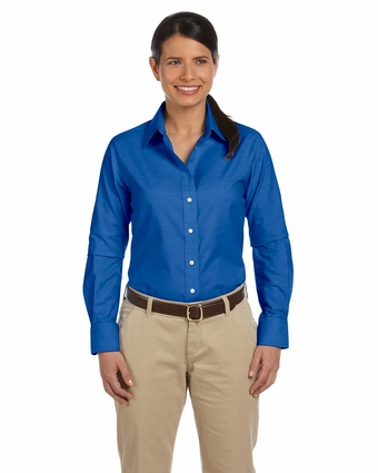 Ladies' Long-Sleeve Oxford with Stain-Release: (M600W)
