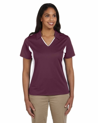 Ladies' Side Blocked Micro-Piqué Polo: (M355W)
