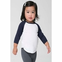 Infant Poly-Cotton 3/4 Sleeve Raglan: (BB053)
