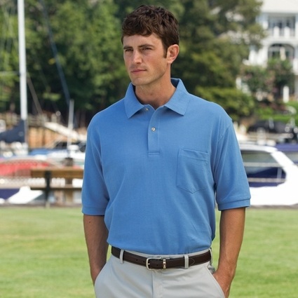 Inner Harbor Men's Polo Shirt: Mainsail Mesh/Pique With Pocket (7002)