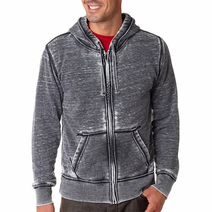 Vintage Zen Full-Zip Fleece Hood: (JA8916)