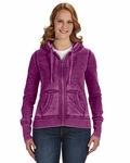 Ladies' Zen Full-Zip Fleece Hood: (JA8913)