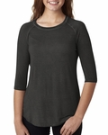 Ladies' Oasis Wash 3/4-Sleeve Tee: (JA8232)