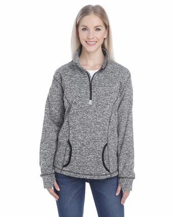Ladies' Cosmic 1/4-Zip Fleece: (JA8617)