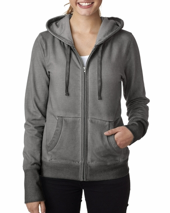 Ladies' Oasis Wash Full-Zip Hooded Fleece: (JA8665)