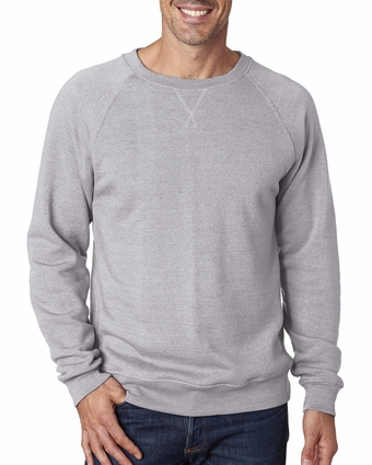 Adult Tri-Blend Fleece Crew: (JA8875)